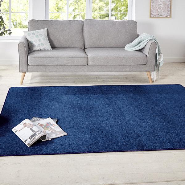 Vierkant Effen vloerkleed - Penny Donkerblauw