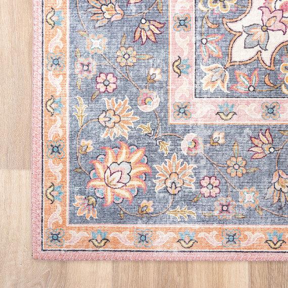 FRAAI Vintage vloerkleed - Lily Medaillon Roze