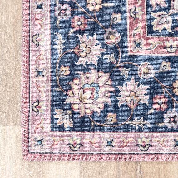 FRAAI Vintage vloerkleed - Lily Medaillon Rood Roze