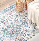 FRAAI Vintage vloerkleed - Lily Oriental Blauw Roze