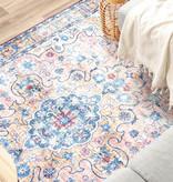 FRAAI Vintage vloerkleed - Lily Oriental Oranje Blauw