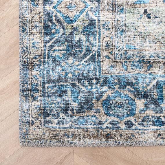 FRAAI Vintage vloerkleed - Lugan Turquoise
