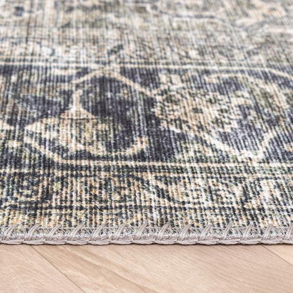 FRAAI Vintage vloerkleed - Lugan Groen Grijs