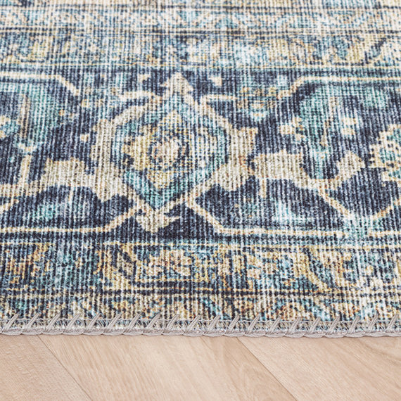 FRAAI Vintage vloerkleed - Lugan Lichtblauw