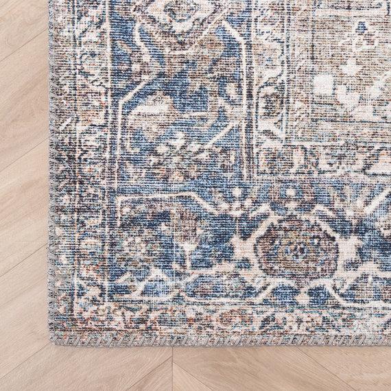 FRAAI Vintage vloerkleed - Lugan Taupe Blauw