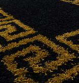 Adana Carpets Rond modern vloerkleed - Greece Zwart Goud