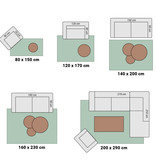 Adana Carpets Modern vloerkleed -Plus Roze 8000