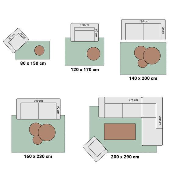 Adana Carpets Modern Vloerkleed - Brick Roze 1130