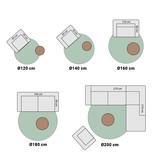 Antoin Carpets Rond Hoogpolig Vloerkleed - Twilight Creme/Wit 6926