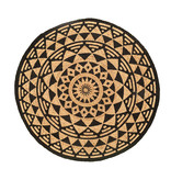 FRAAI Rond jute vloerkleed - Henna Maya Naturel