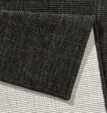 Bougari Balkonkleed - Twin Solid Zwart/Creme