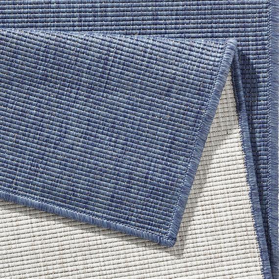 Bougari Balkonkleed - Twin Solid Blauw/Creme