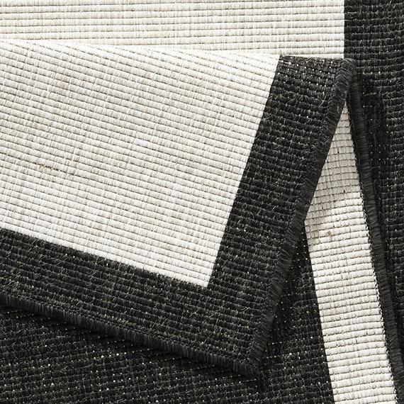 Bougari Balkonkleed - Twin Square Zwart/Creme