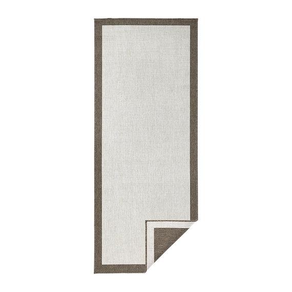 Bougari Balkonkleed - Twin Square Bruin/Creme - Copy