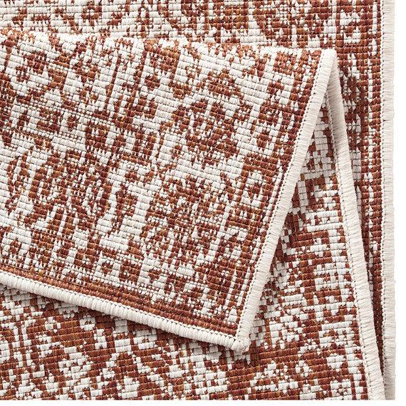 Bougari Balkonkleed - Twin Barok Terra/Creme