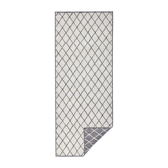 Bougari Balkonkleed - Twin Lines Grijs/Creme