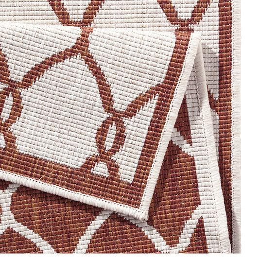 Bougari Balkonkleed - Twin Circle Terra/Creme