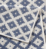 Bougari Balkonkleed - Twin Cubes Blauw/Creme