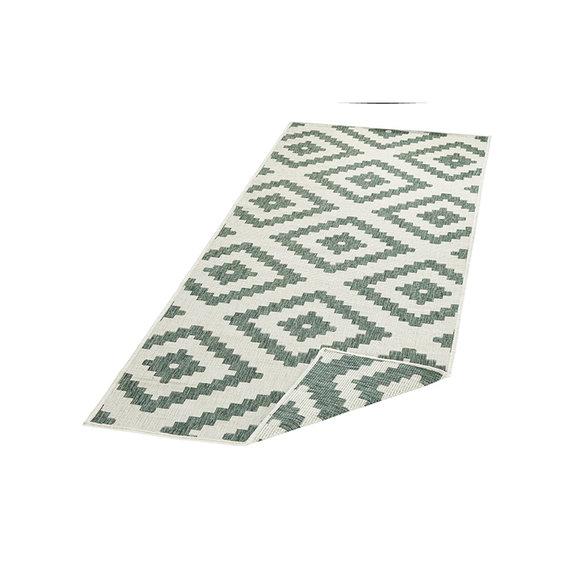 Bougari Balkonkleed - Twin Diamond Groen/Creme