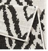 Bougari Balkonkleed - Twin Ruit Zwart/Creme
