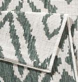 Bougari Balkonkleed - Twin Ruit Groen/Creme