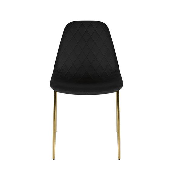Kick Collection Velvet stoel - Tara Zwart - Goud frame