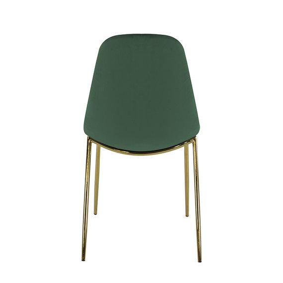 Kick Collection Velvet stoel - Tara Donkergroen - Goud frame
