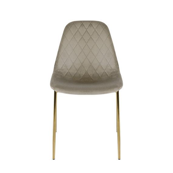 Kick Collection Velvet stoel - Tara Champagne - Goud frame