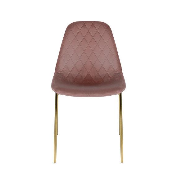 Kick Collection Velvet stoel - Tara Roze - Goud frame
