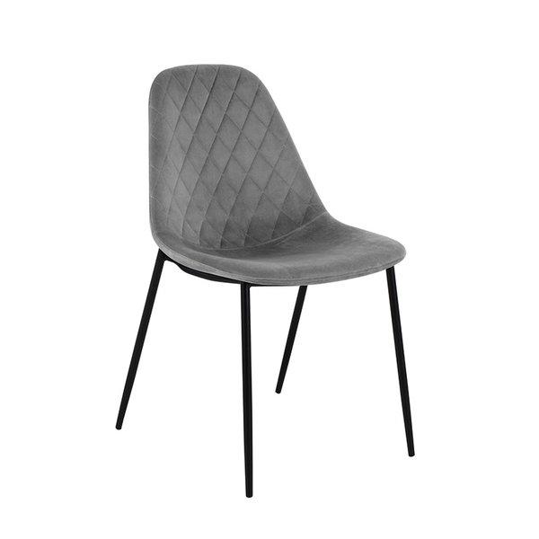 Velvet stoel - Tara Grijs