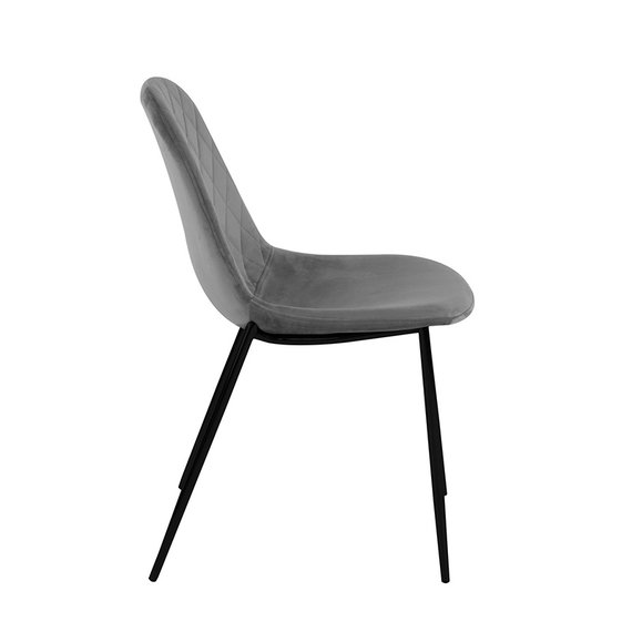 Kick Collection Velvet stoel - Tara Grijs