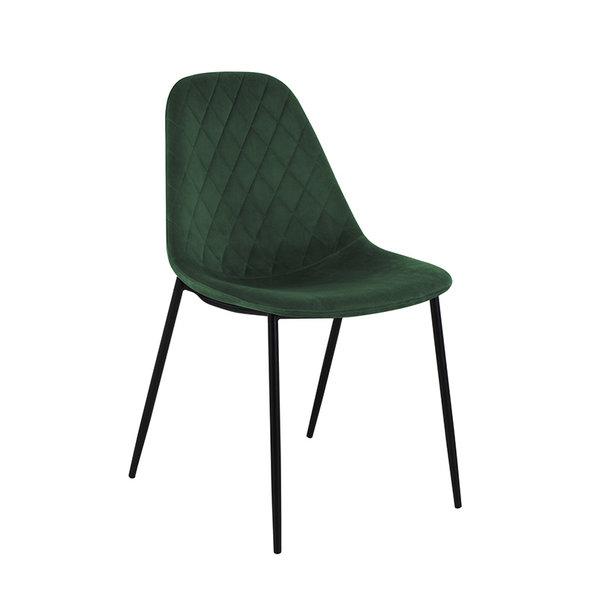 Velvet stoel - Tara Donkergroen