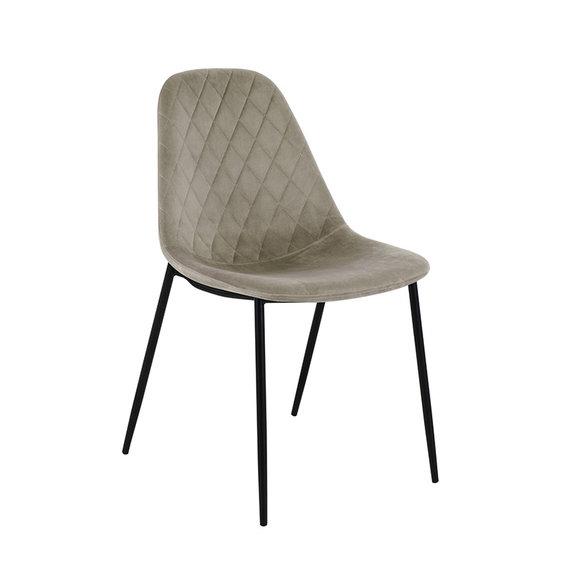 Kick Collection Velvet stoel - Tara Champagne