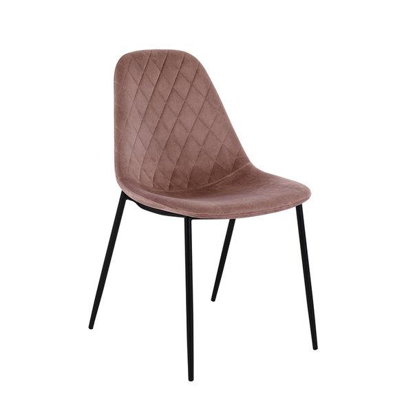 Velvet stoel - Tara Roze