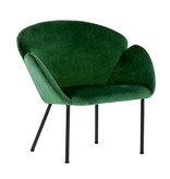 Kick Collection Velvet fauteuil - Tess Donkergroen