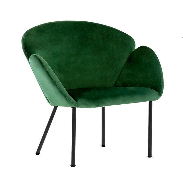 Velvet fauteuil - Tess Donkergroen