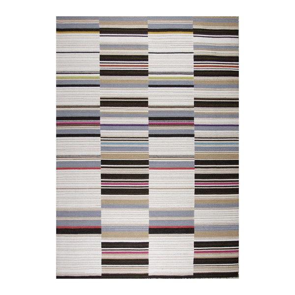 Wollen vloerkleed - Bon Multicolor Bruin