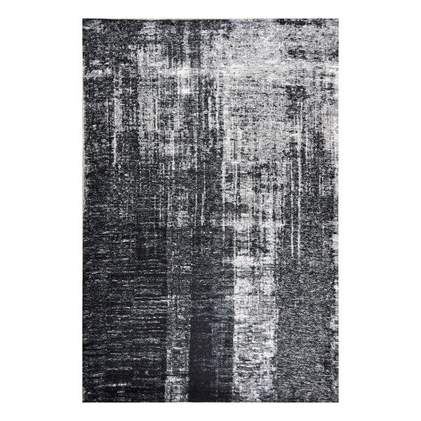 Modern vloerkleed - Fae Zwart Grijs