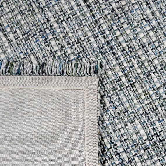Rebelle Wollen vloerkleed - Trinette Groen Grijs