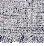 Rebelle Wollen vloerkleed - Trinette Blauw Creme