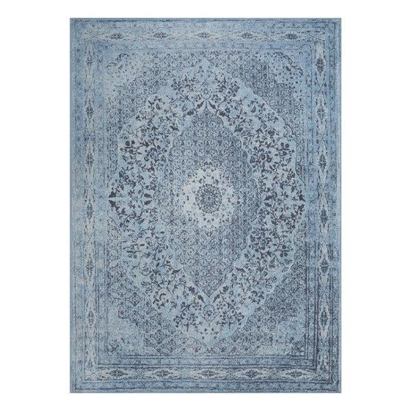 Vintage vloerkleed - Therese Blauw