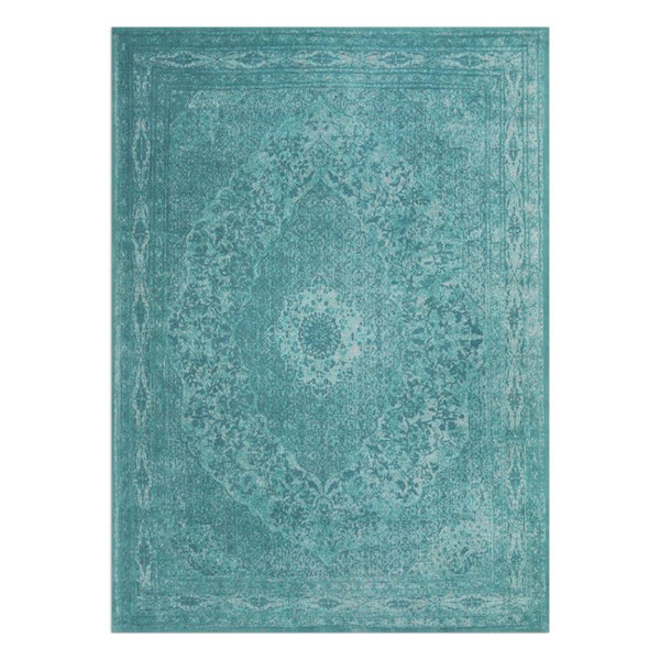 Vintage vloerkleed - Therese Aqua Blauw