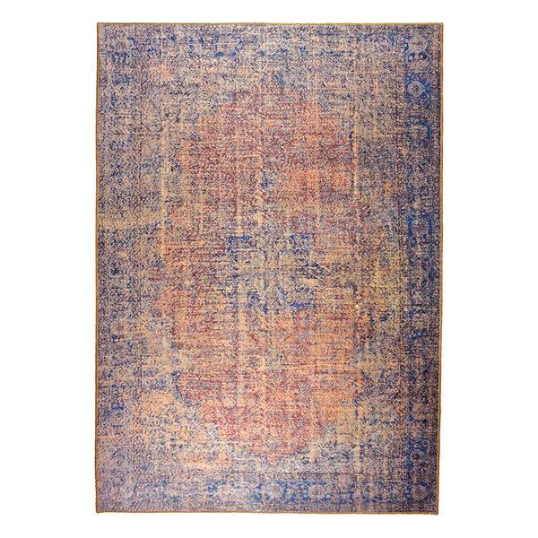 Vintage vloerkleed - Nadine Kayde Blauw Rood