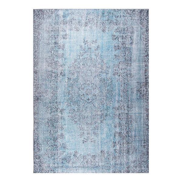 Vintage vloerkleed - Nadine Kayde Lichtblauw