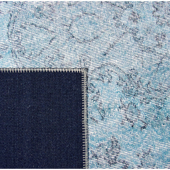 Rebelle Vintage vloerkleed - Nadine Kayde Lichtblauw