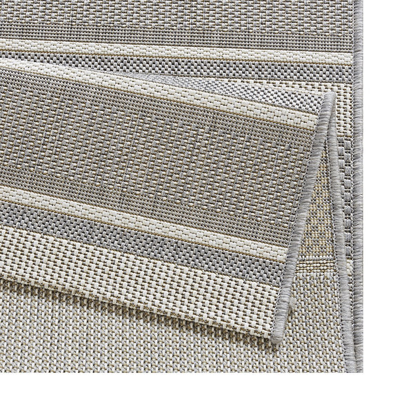 Bougari Balkonkleed - Strap Zilver/Grijs