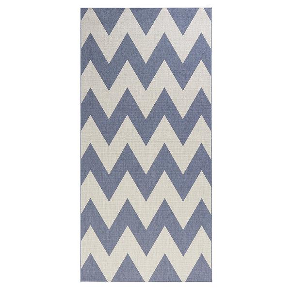 Balkonkleed - Unique blauw/beige