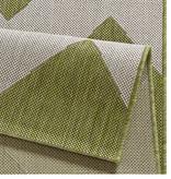 Bougari Balkonkleed - Unique groen/beige