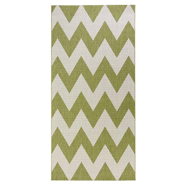 Balkonkleed - Unique groen/beige