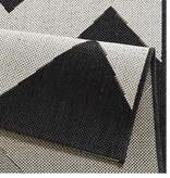 Bougari Balkonkleed - Unique zwart/creme